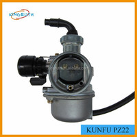 KUNFU PZ22 22mm Carburetor For 125cc Dirt Bike KF Carby ATV