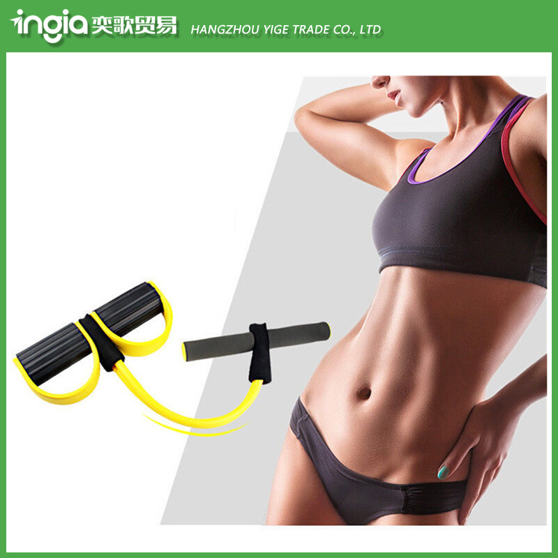 Home Use Portable Fitness Exercise Chest Expander Elastic Latex Sport Pull Rope