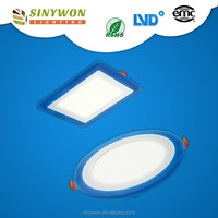 Sinywon 2016 Trending fashion design 3d effect switch 10w/15w/20w led panel square/round 18w ultrathin round led panel light