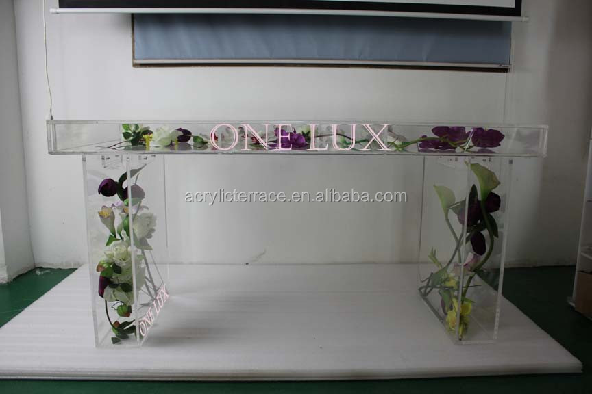 2011402108 KD Packed Lucite Bridal table,Perspex event wedding occasional desk