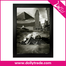 desert landscape art painting black and white 2 panel canvas wall art