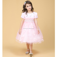 Fashion Short Sleeve Baby Frocks Designs Kids Beautiful Model Dresses Girls 2016
