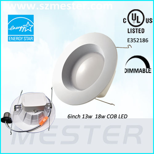 cree cob led dimmable downlight 18w ul cul approved
