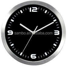 Silent Quartz Aluminum Wall Clock With 3 6 9 12 Numbers