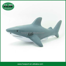Most popular shark shape pu foam stress ball for toys