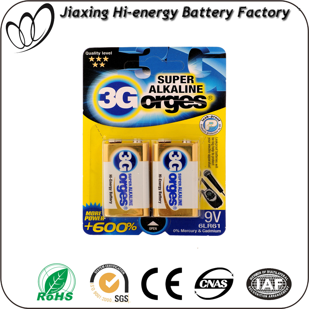 super heavy duty battery 6lr61 9v cell dry battery