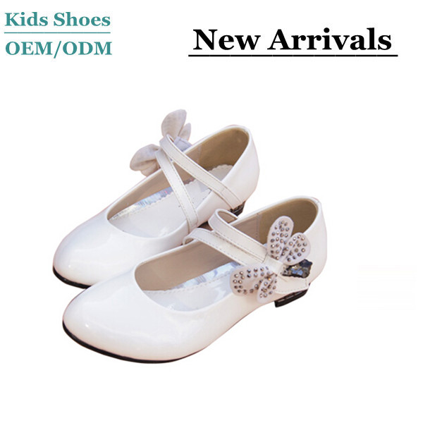 Manufacture 2014 Newest hot-selling famous children leather school shoes