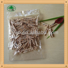 Natural color mini wooden pegs