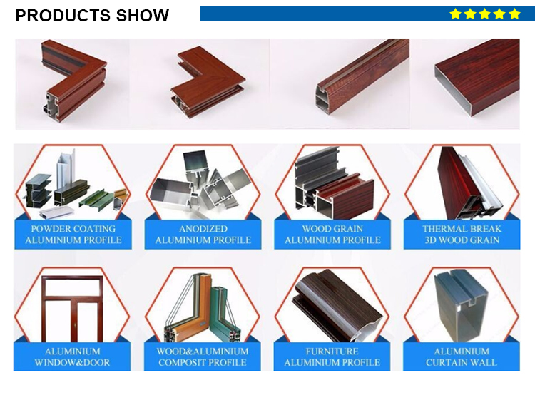 u shaped aluminum extrusion for windows and doors 6063-T5