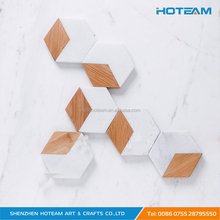 Custom Hexagon Blank Acrylic Bamboo Coaster for Drink
