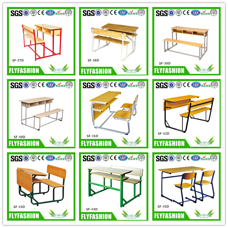 SF-10D Cheap Student Double Desk and Chair Set For Sale School Furniture