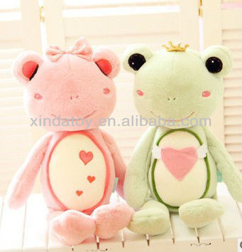 Sweet lover frog plush toys for valentine's
