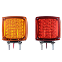 Double Face Led Turn Singal Amber Side Marker Light with Reflex Reflector LED Brake Stop Light for Truck
