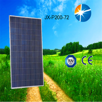 Full certificates attractive design and best service 200w polycrystalline solar module with cheapeat price solar panel