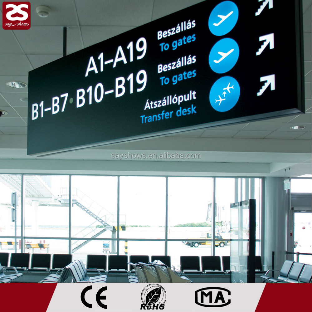 Airport/Subway Led Sign Double Side LED Signage LED Signboard