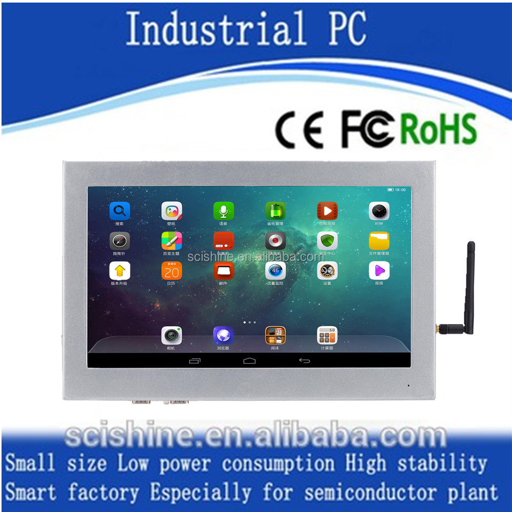 industrial embedded computer with touch screen for Windows 7/8/10/xp Android