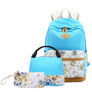 81b5174b5a 8891-3 Wholesale Printing Unique Laptop Canvas Vintage Backpack And Lunch  Bag Set - Buy Backpack And Lunch Bag Set