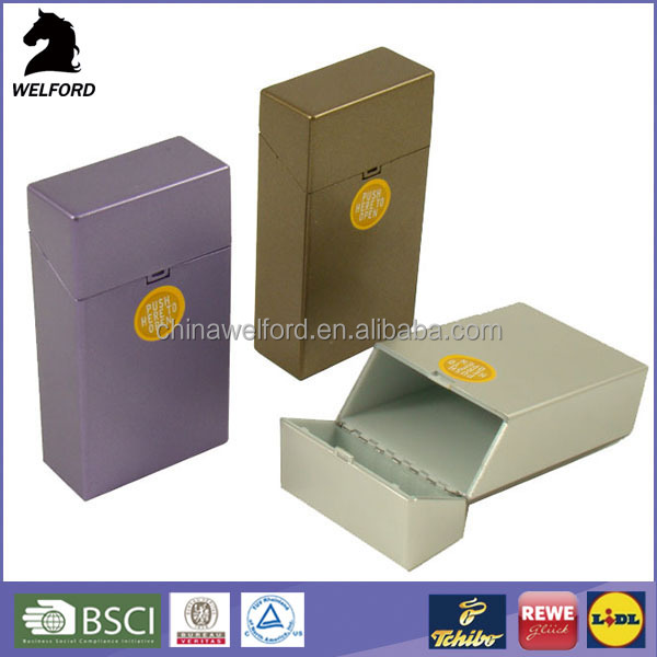 Hot Sales tobacco case metal maker cigarette box