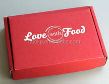 color kraft corrugated shipping box with custom logo and folded lid