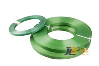 green custom pet strap,plastic steel strapping