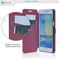 For Samsung Galaxy A7 strong magnetic Leather slot wallet Cover stand Flip Case