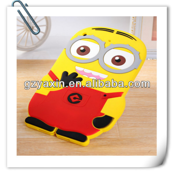 Minion despicable me 2 case for ipad mini,cartoon hybrid minion case for IPAD2/3/4
