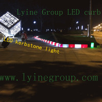 Newest product LED kerbstone led light traffic safety facilities for road cross warning ,garden barrier
