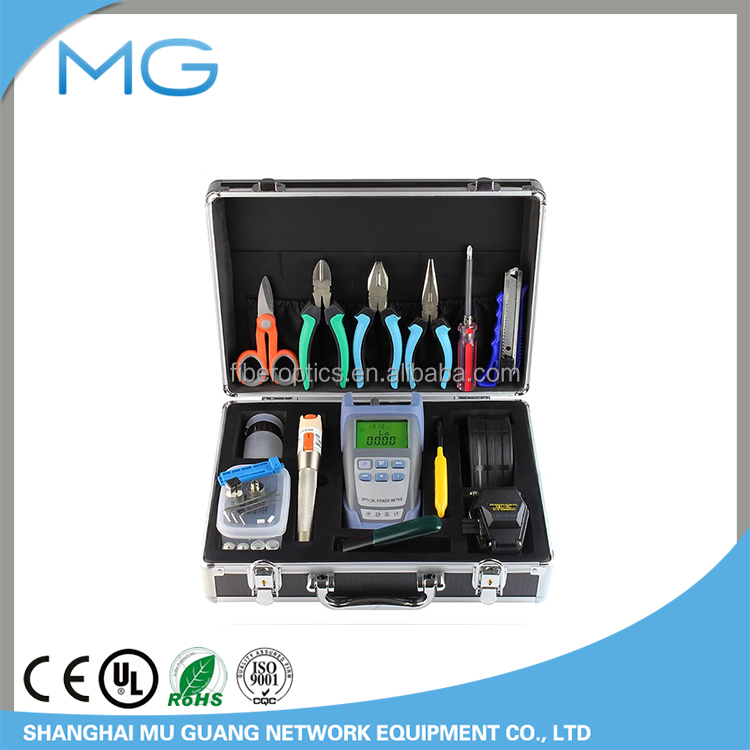 Supply MG100B FTTH Fiber Optic stripper and cutter tool kit box with cleaver locator