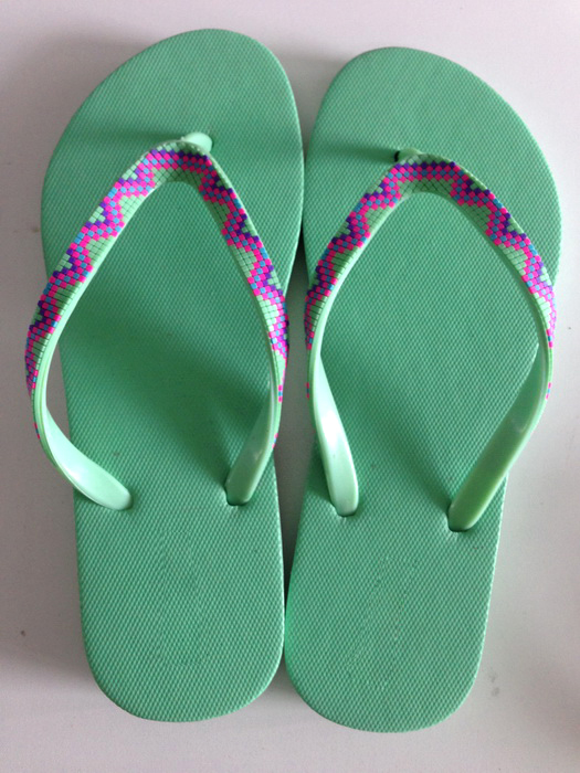 Solid Color Woman Slipper Rubber flip flop anti-slip bath slipper