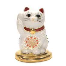 Japanese Traditional Ceramic Lucky Cat Figurines