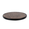 NW180B Natrual Bamboo Qi Wireless Charger Charging Pad Compatible with QI Enabled Devices