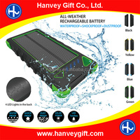 Factory price 16000mah waterproof solar power bank charger, portbale mobile solar charger for mobile phone