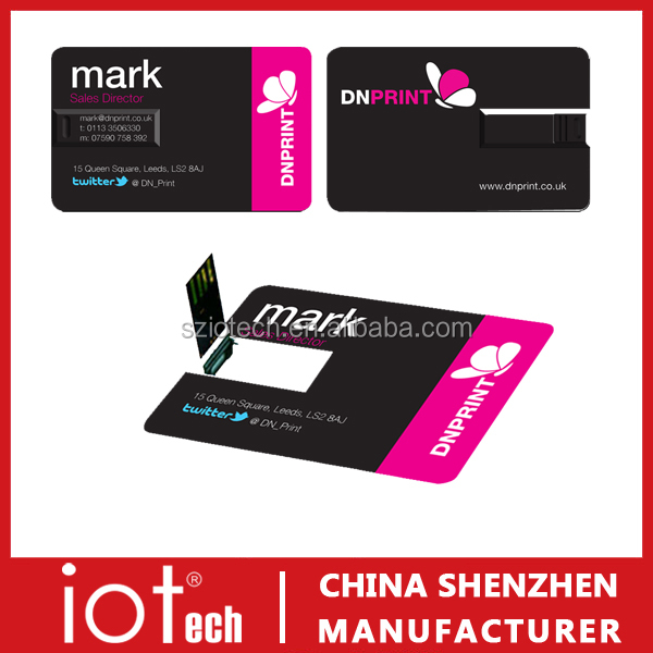 Promotional Gift Flash Disk Computer Accessory Name Card USB Pen Drive