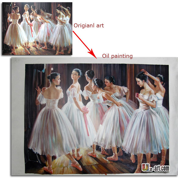 Ballet dancer paintings custom famous oil painting