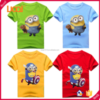 New 2017 Fashion Cute Summer Clothing Despicable Me Movie Printing BOB With Bear Minions Design Custom T Shirt