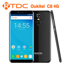Original Oukitel C8 4G mobile phone MTK6737 Quad Core 2GB+16GB 5.5inch Camera 13.0MP Fingerprint