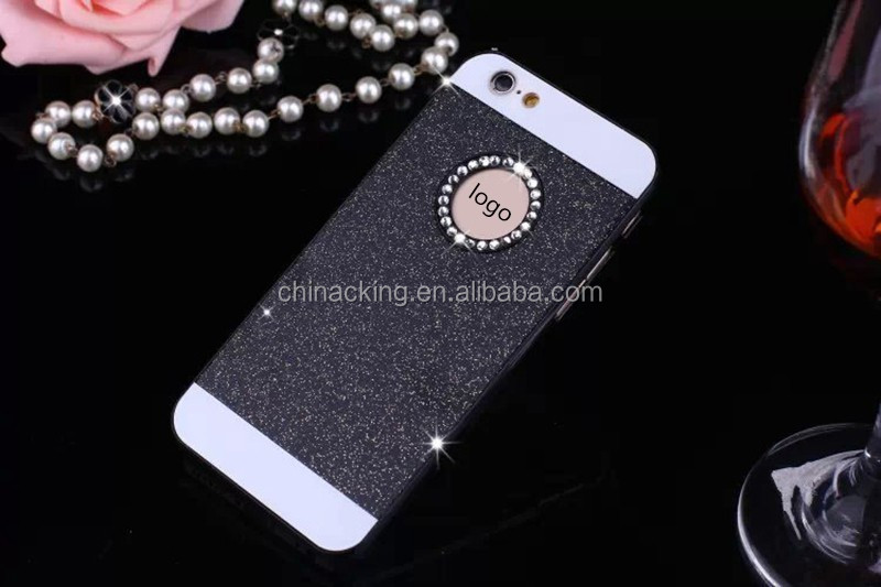 Luxury Bling Glitter Crystal Back Hard PC Cover Case For iPhone 6 Plus