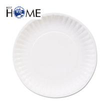 Baby candy color plastic disposable christmas paper plate