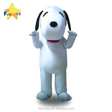 Funtoys CE Cheap Hot White Dog Mascot Costume