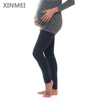 High elastic spandex pregnant leggings maternity clothing with extra underbelly