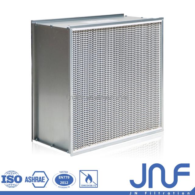 Aluminum frame Special design separator hepa paper frame air filter