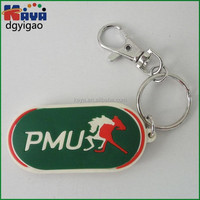 Customized embossed 3d pvc keychain for promotion gifts
