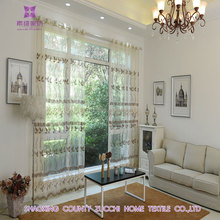 2016 Embroidered voile curtain leaf Pattern Tulle Drapery Curtains