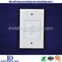 1 Gang brush wall plate easy installed home theater wallplate