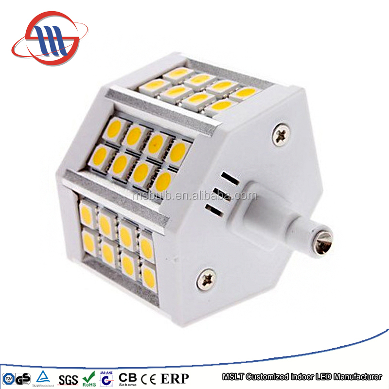 Haining Mingshuai LED bulb R7S LED ceramic flood light 78mm 5050 SMD 7W linear dimmable replace J78 halogen Lamp