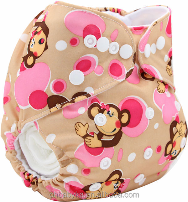 Ohbabyka Printing Baby Cloth Diaper Cover , Baby Sleeping Diaper,Reusable Nappy With New Models