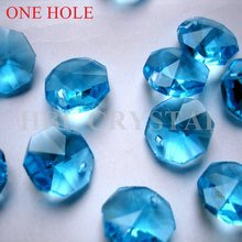 14mm one hole aquamarine beads machine making faceted crystal octagon beads