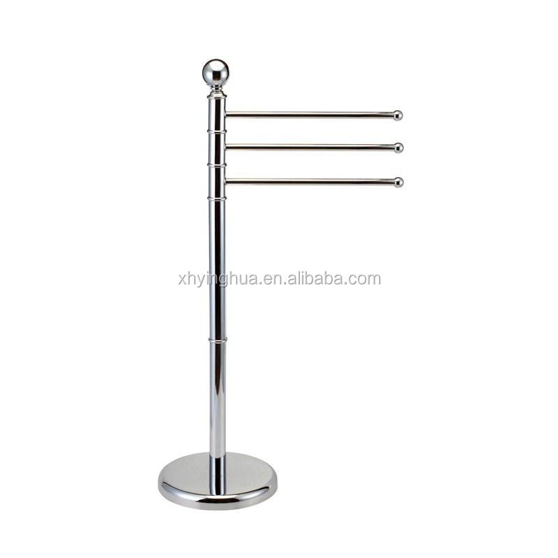 Chrome Finish Bathroom Towel Stand Chrome Bathroom Stand
