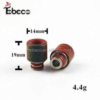 Epoxy resin drip tip wide bore 22mm 510 epoxy Drip Tip with many colors in stock