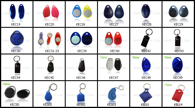 KEP ultralight 13.56mhz passive rfid keychains tag for alarm system ( GYRFID )
